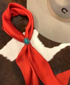western silk scarf