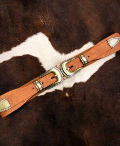 western double buckle stretch belt