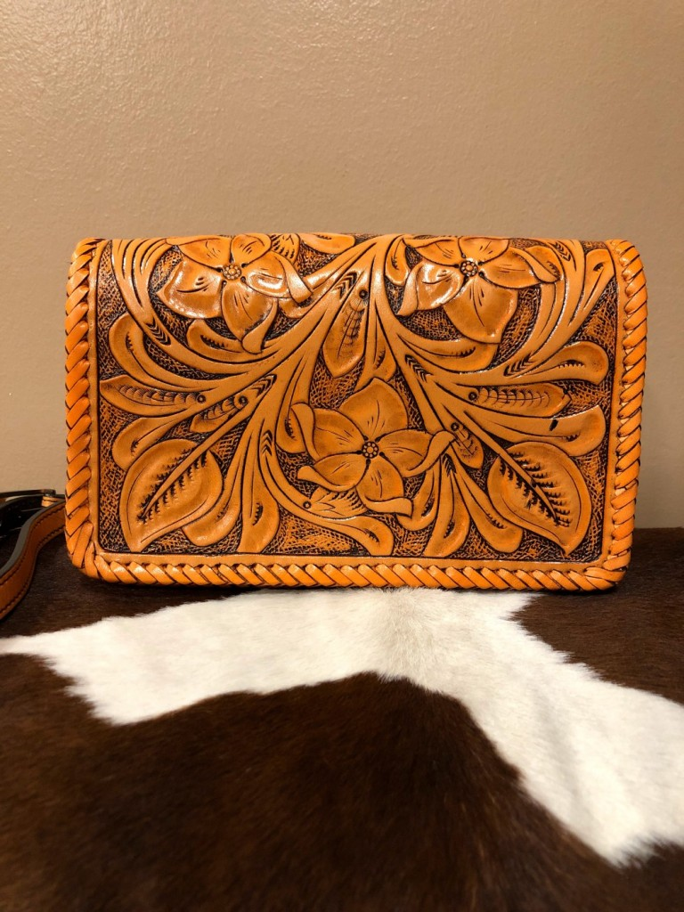 WESTERN TOOLED LEATHER BAG