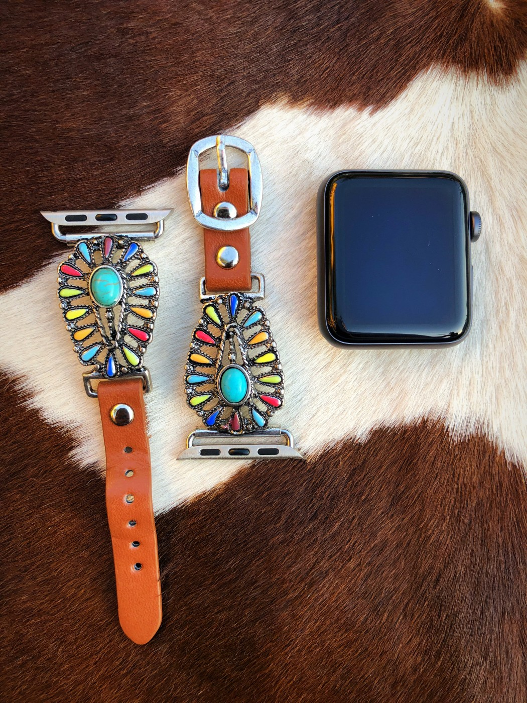 Saddle Up Western Watch Band Multi Color Ale