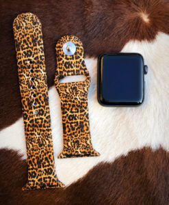 cheetah silicone apple watch