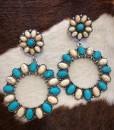 western stylish earrings