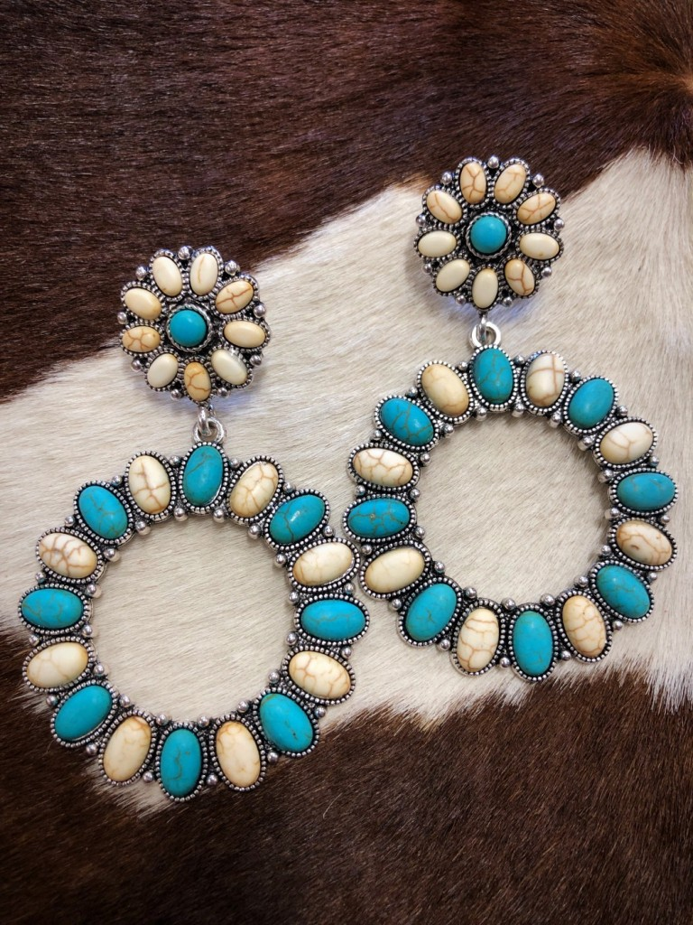 western stylish earrings