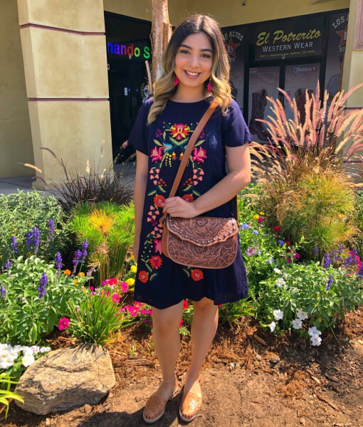lucia embroidered dress