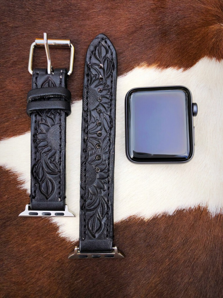 western tooled apple watch band