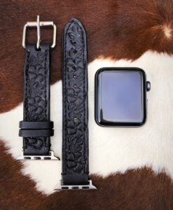 leather tooled watch band