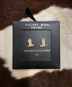 SECRET BOX WESTERN BOOT EARRINGS