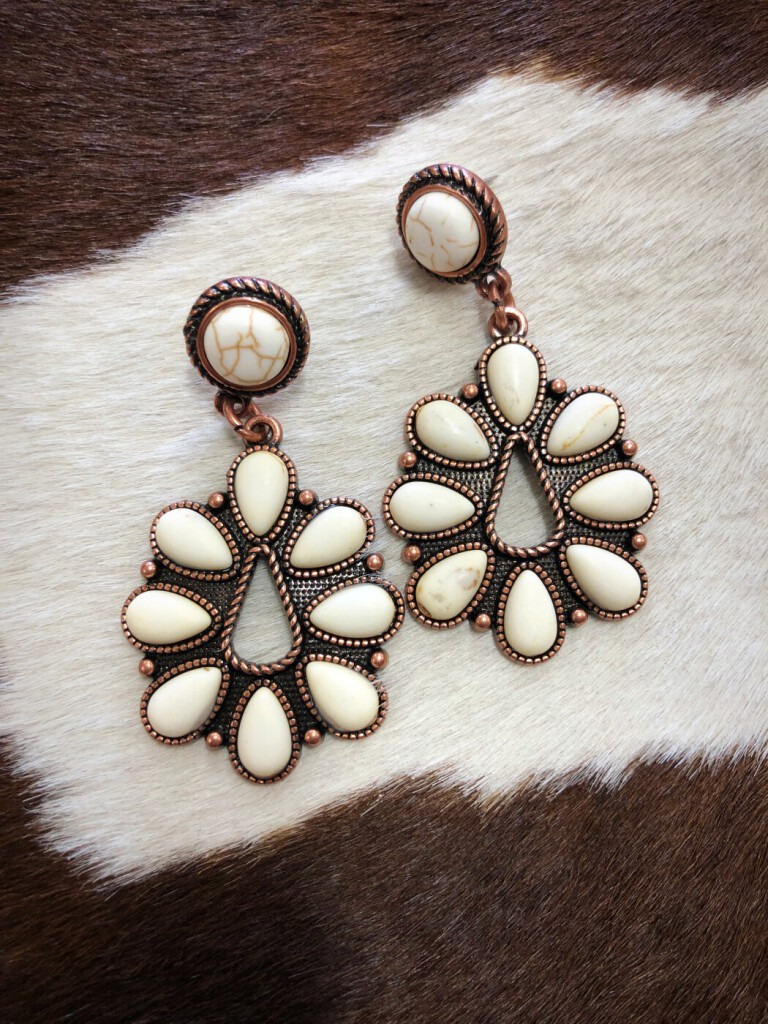 western earrings