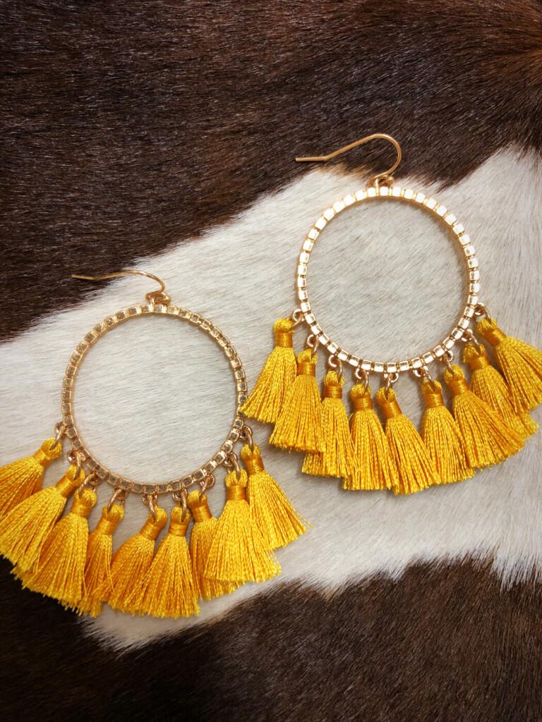 """"""" Fatima """" Fashion Tassel Earrings"""
