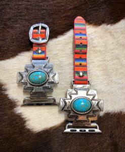 """ Aztec "" Western Serape Watch Band ( Turquoise )"