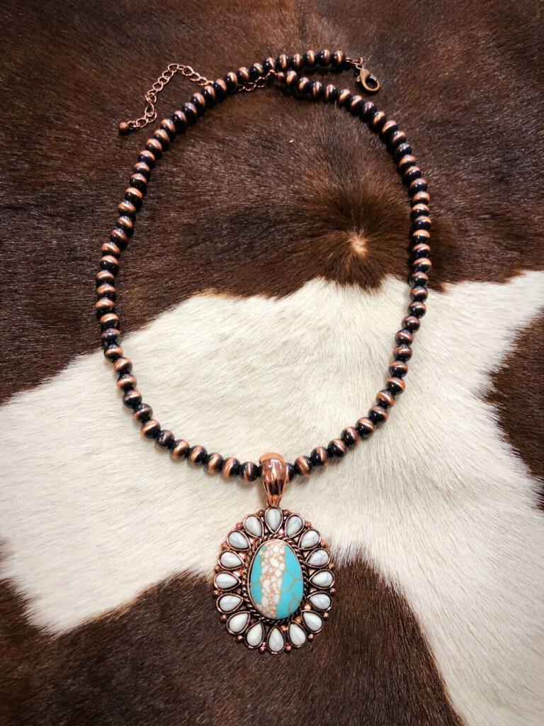 Western Pendant Navajo Necklace