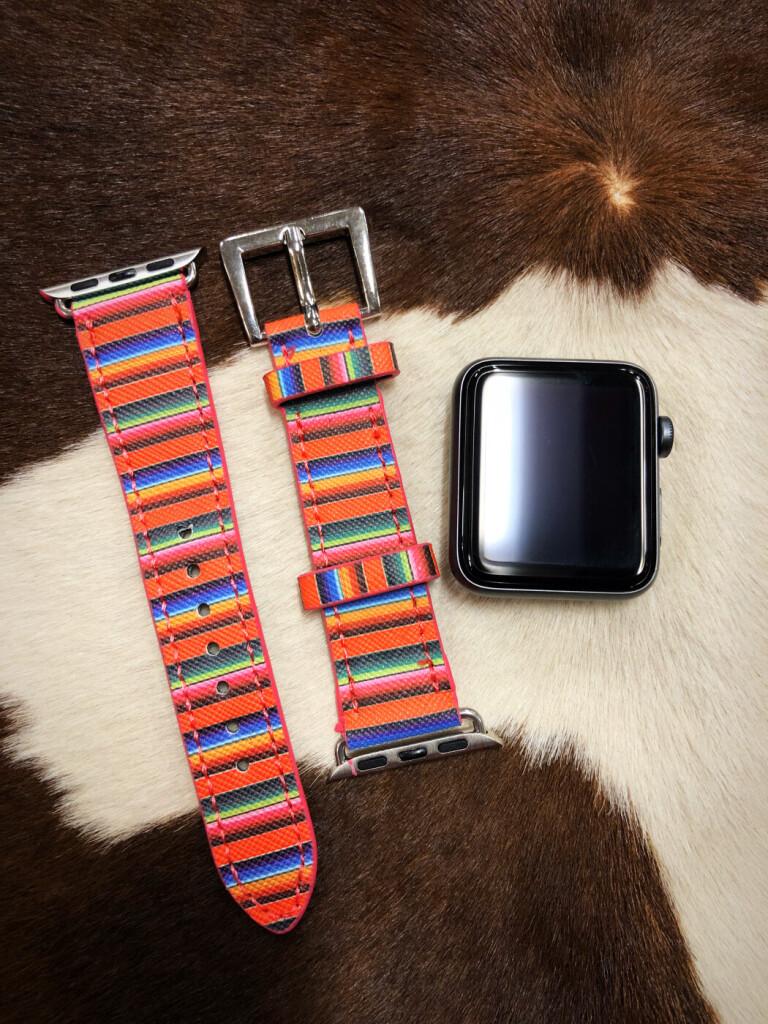 serape faux leather watch band