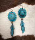 concho dream catcher earrings
