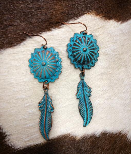 concho dream catcher earrings