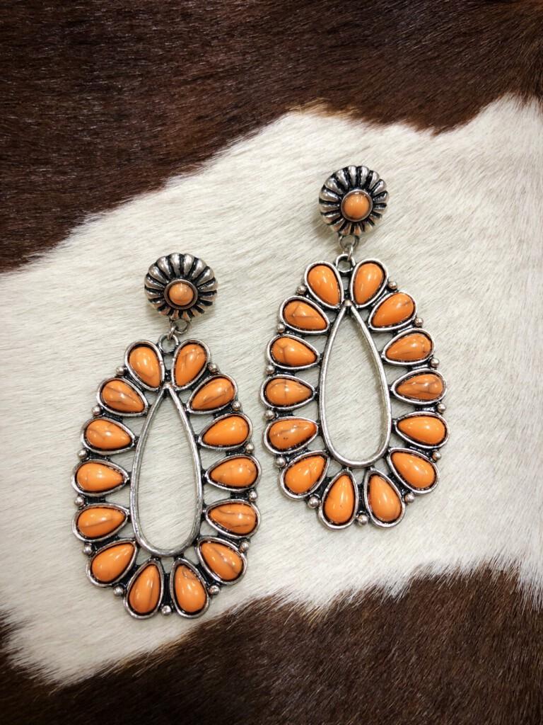 """"""" Livia """" Western Earrings ( Melon )"""