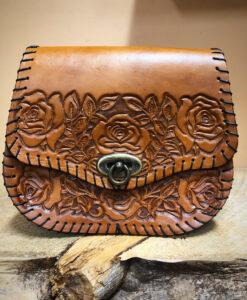 medium rose leather purse