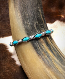 """"""" Letty """" Western Style Stretch Bracelet ( Turquoise )"""