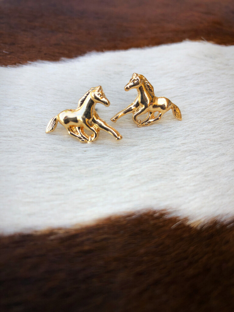 WESTERN HORSE EARRINGS
