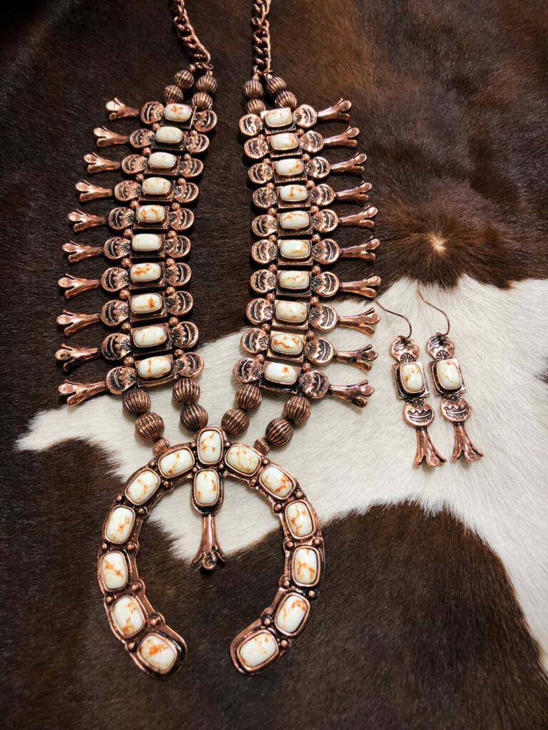 western squash blossom necklace