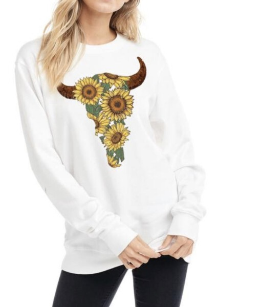 sunflower bull head sweater