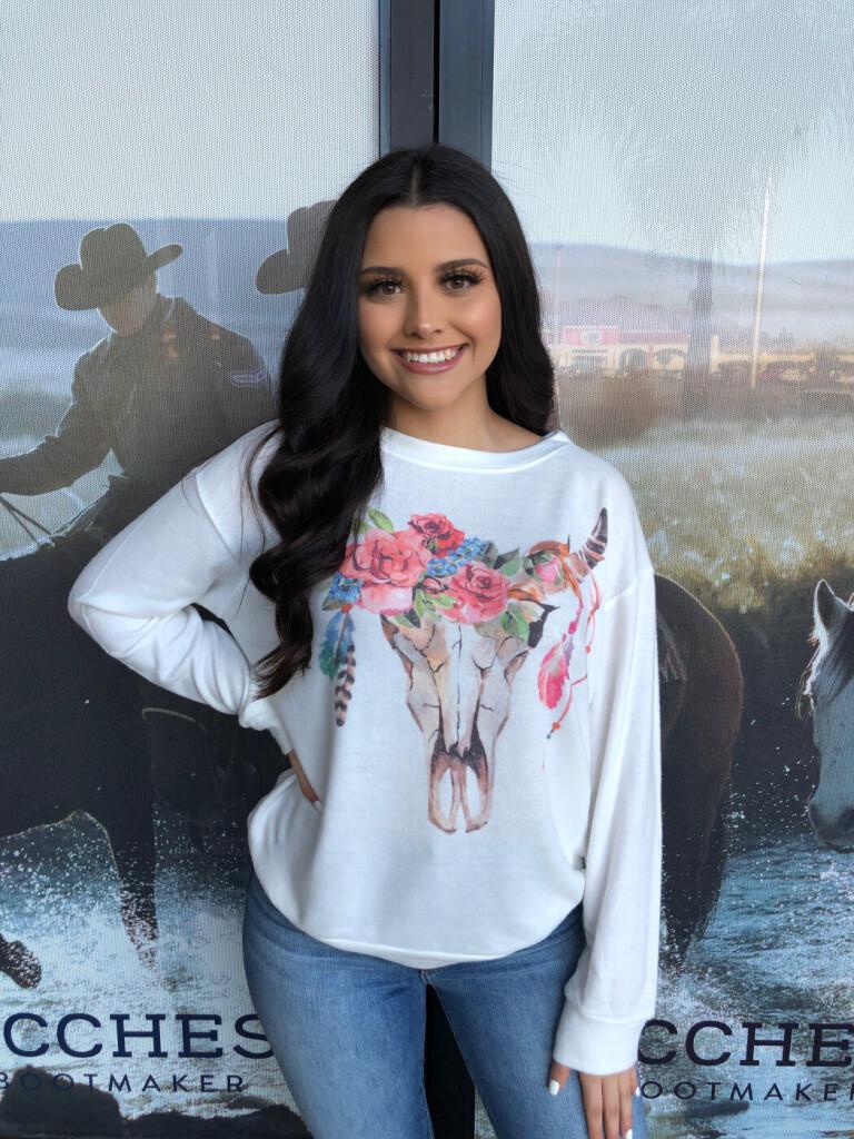bull skull sweatshirt