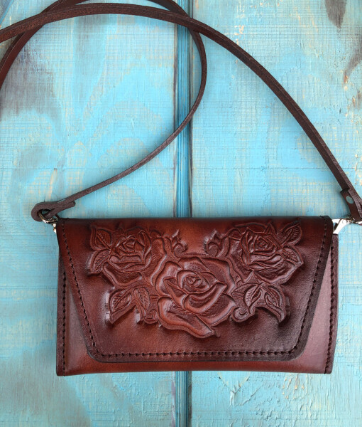 FLORAL TOOLED WALLET