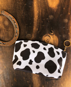 COW PRINT POUCH