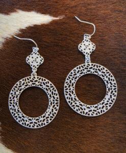 """ Antonia "" Cut Out Detail Earrings ( Silver )"