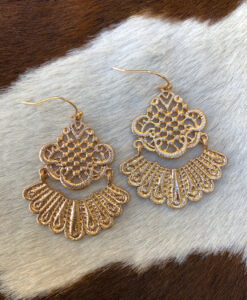""""""" Arely """" Cut Out Detail Earrings ( Gold )"""