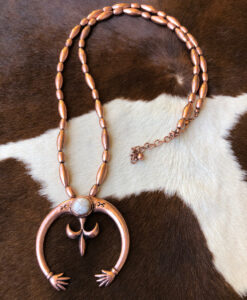 """ Bailey "" Western Squash Blossom Necklace Set ( Copper )"