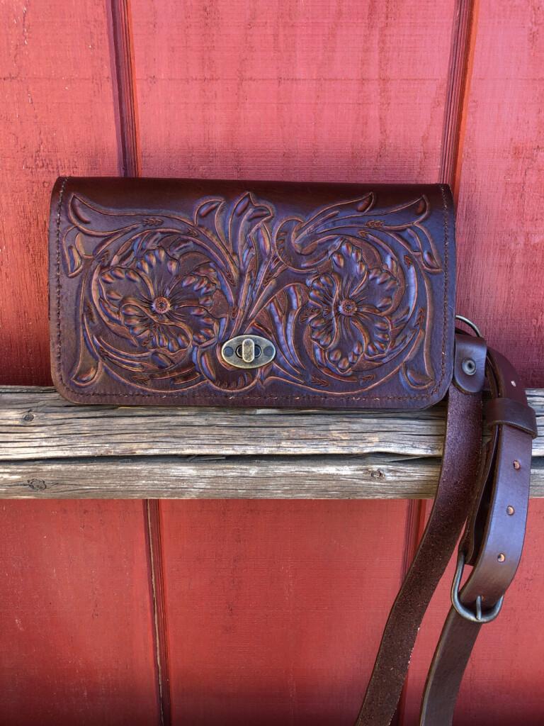 tooled purse